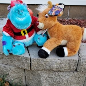 Santa Sully  and Rudolph